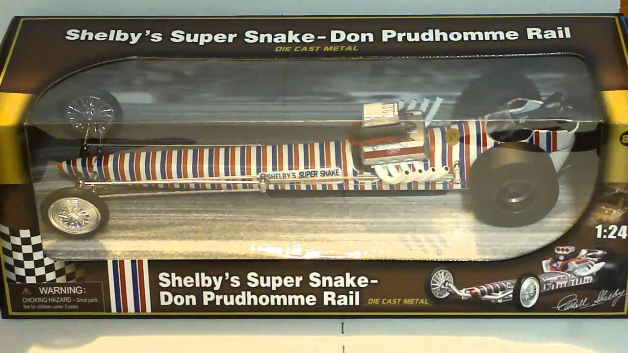 Shelby Super Snake Don Purdhomme Rail Dragster Diecast Model Car