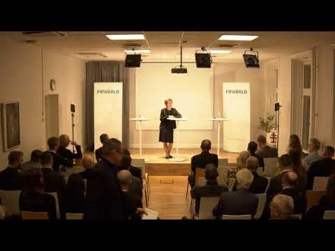 Carolina Vendil Pallin på Frivärlds Boklansering