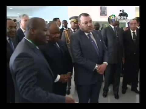 visite du chef de l'Etat et de SEM le Roi Mohammed VI au CHU d'Agondjé