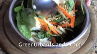 An Exotic Thai Salad Of Spinach, Carrots, And Peanuts -- To End Acid Reflux