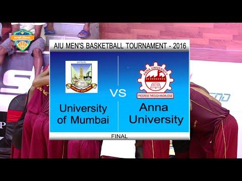 2016 UBAU AIU Inter-Zonal Basketball Tournament Finals   University of Mumbai VS Anna University