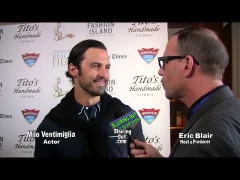 Milo Ventimiglia & Eric Blair staying positive in show biz 2016