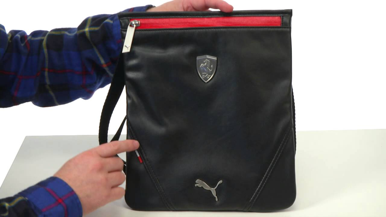 56d985606ba PUMA Ferrari LS Magazine Bag SKU  8215231 - YouTube