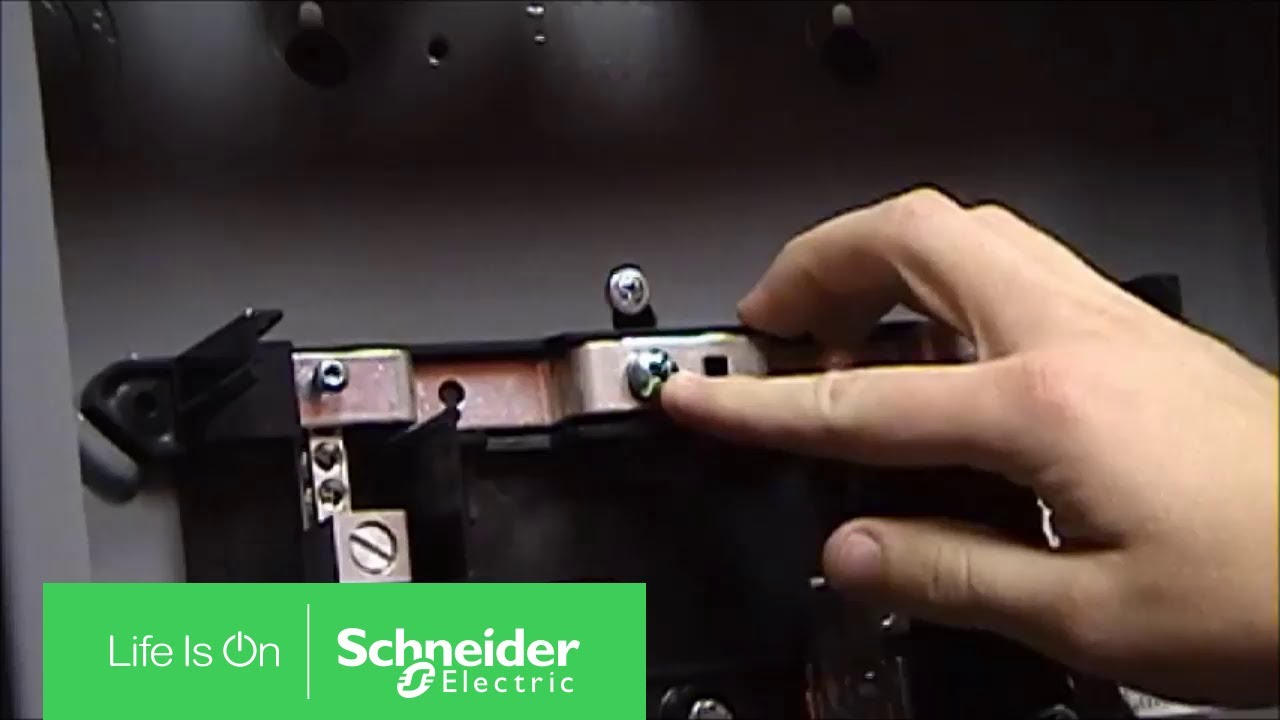 Installing Bonding On Homeline Load Centers Schneider Electric Support