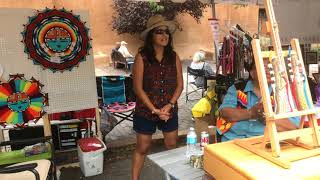 SWAIA 96th Annual Santa Fe Indian Market - Walking Around   Clip 8