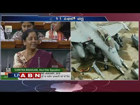 Rahul Gandhi Counter To Nirmala Seetharaman During Speech Over Rafale Deal   ABN Telugu