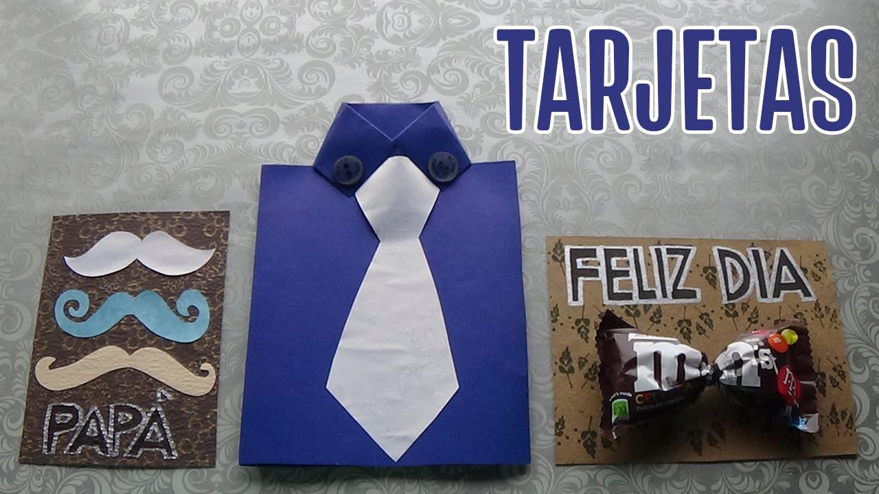 Tarjetas Para El Dia Del Padre Faciles Y Bonitas Candy Bu Youtube