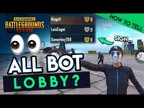 HOW TO TELL IF YOUR LOBBY IS ALL BOTS 😡 - PUBG Mobile