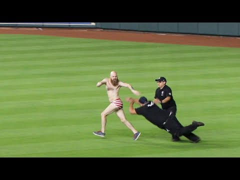 Astros fan vs. security guards at Minute Maid Park