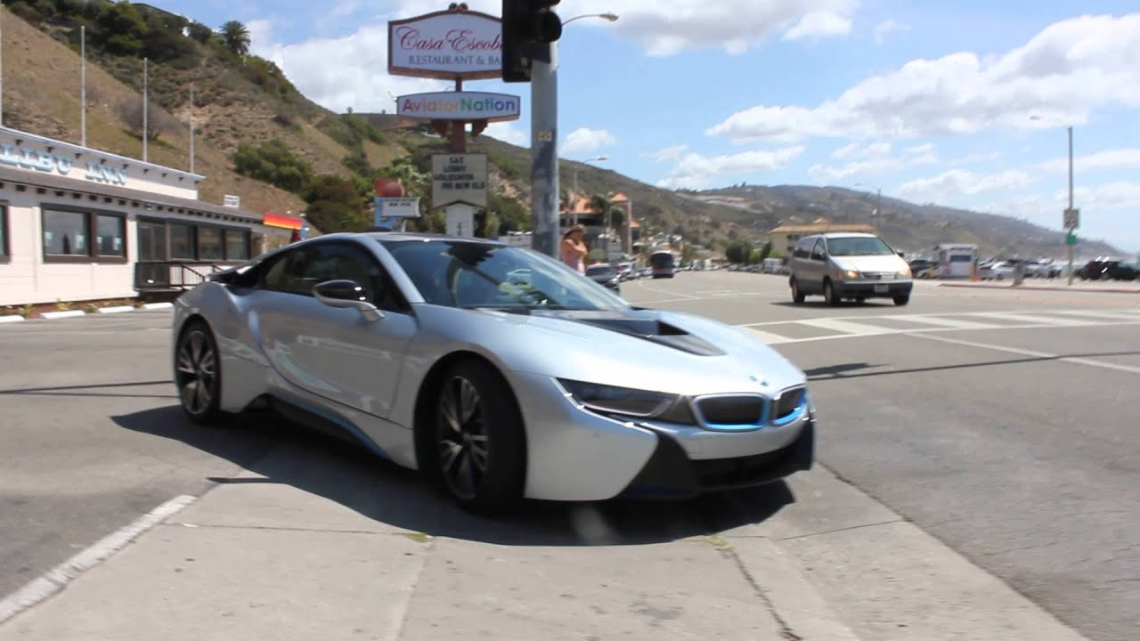 BMW i8 spotted in Los Angeles   YouTube