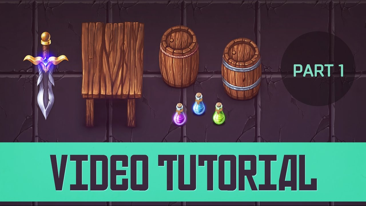 [Tutorial] Painting Top-Down 2d game assets for a cartoon game  [Part 1/3]