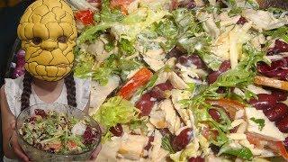 ВЕСЕННИЙ САЛАТ. ПРИХОДИ ВЕСНА СКОРЕЙ !!!#салат#готовим#вкусно#повар#фасоль#куриная_грудка