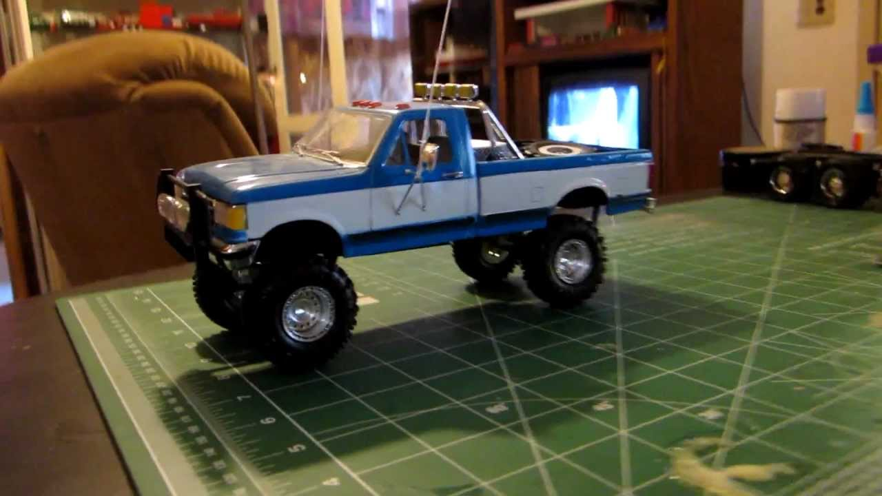 scale model ford pick up truck lifted youtube. Black Bedroom Furniture Sets. Home Design Ideas
