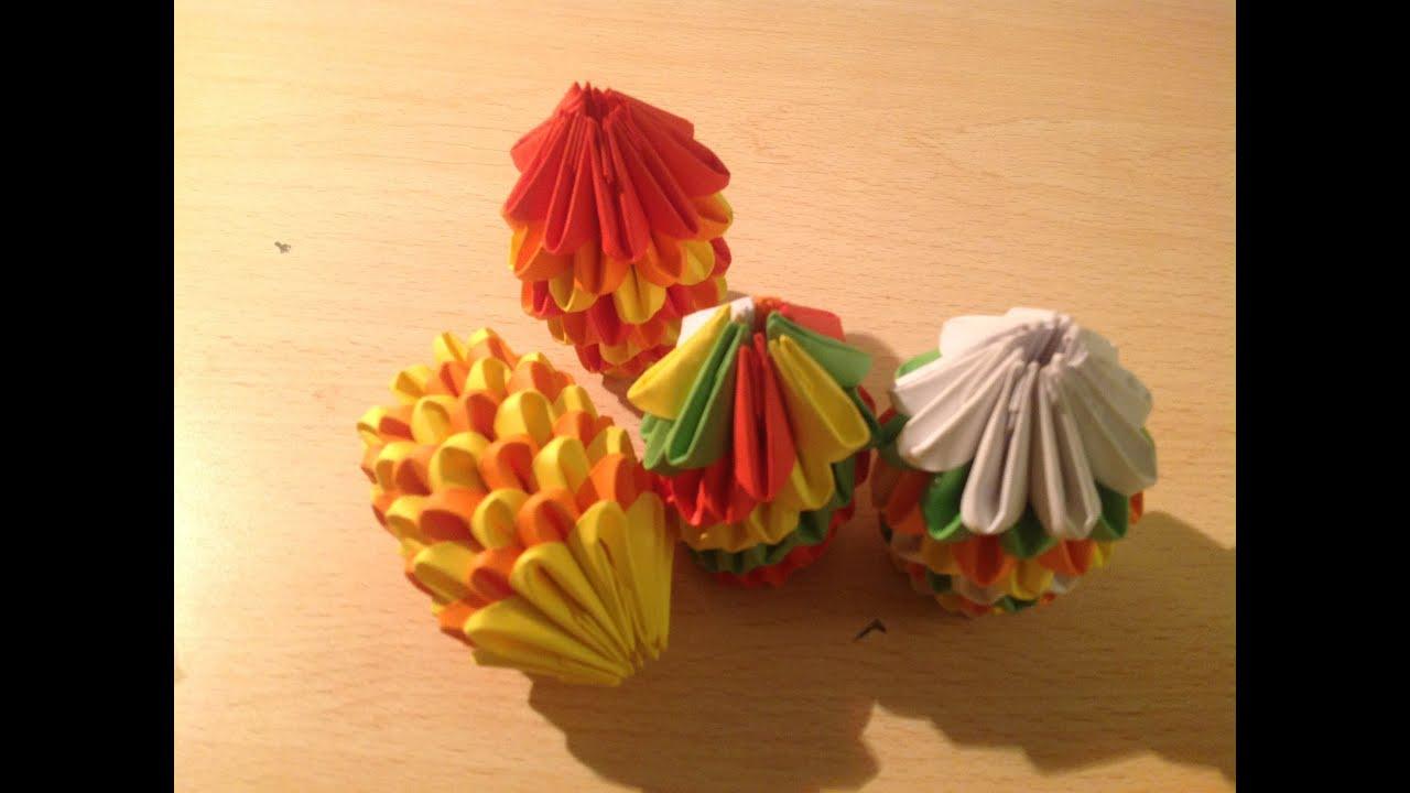 Favori origami tutorial 03:la palla di natale - YouTube GW48