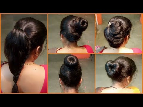5 Easy Bun Hairstyles | Simple & Quick Latest Hairstyles