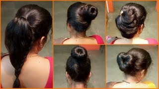 5 Very Lovely Bun Hairstyles for Wedding, Party | Simple & Quick Latest Hairstyles