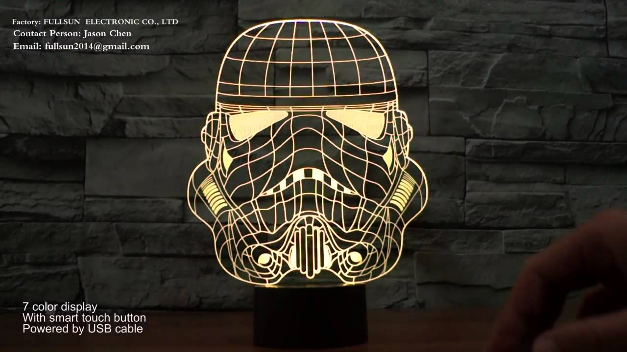 Star Wars Shape 3d Illusion Led Night Light Lamp For Room Decoration