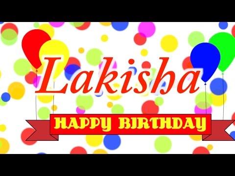 Happy Birthday Lakisha Song