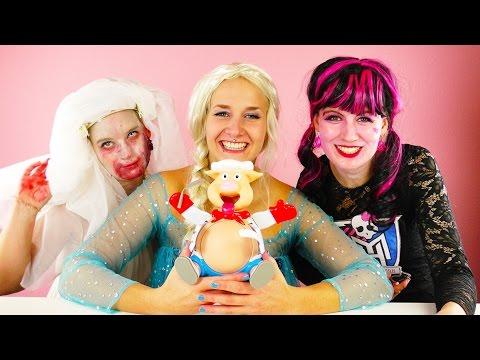 ELSA, DRACULAURA & ZOMBIE Braut spielen PIG GOES POP | Lustiges Halloween Special Nina, Kathi & Eva