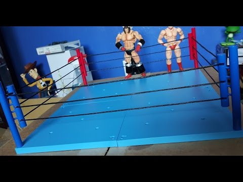 Tamashii stage act: blue/red corner & complete wrestling ring - figure? review thing
