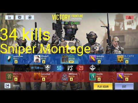 34 Kill Sniper Montage Call Of Duty Mobile 5v5 Crossfire Domination... #HazardGaming