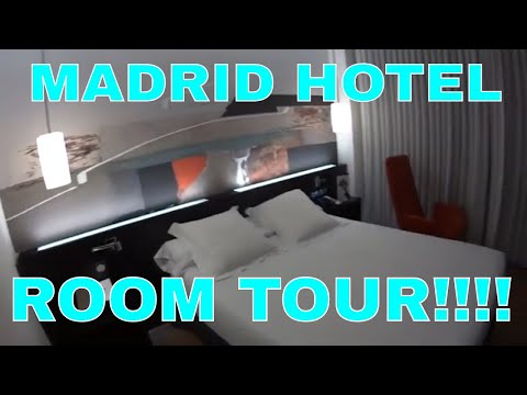 Hotel And Room Tour Of The Axor Barajas in Madrid Spain