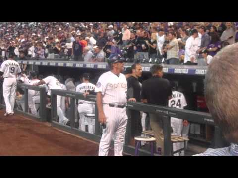Todd Helton Leaves the Field After Tribute, Greets Teammates In Dugout, 9 25 13