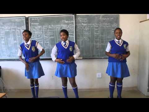 Warning graphic content) High school learners recite poem