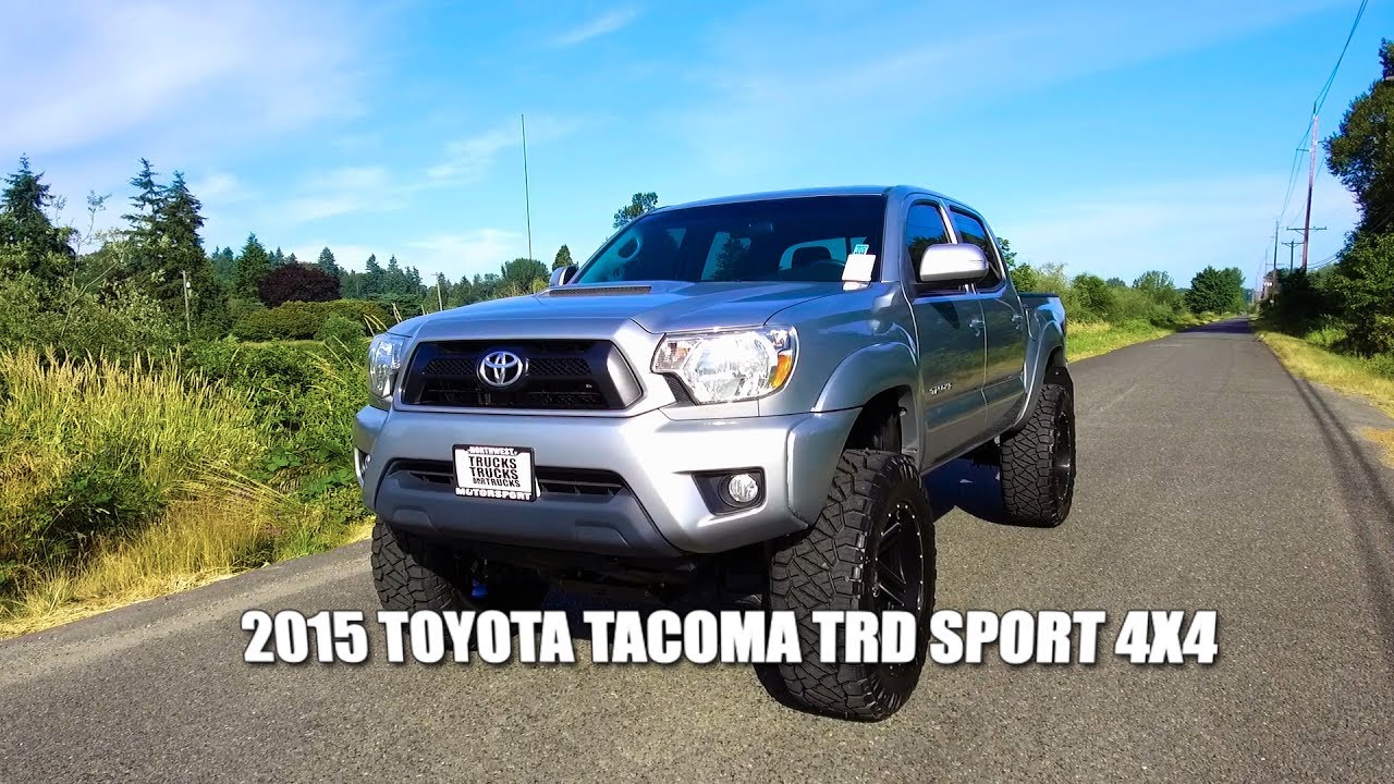 2015 toyota tacoma trd sport 4x4 youtube. Black Bedroom Furniture Sets. Home Design Ideas