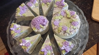 Cold Process Soap Making Lilac Soap Cake Collection