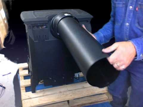installing the rear vent Napoleon DV gas stove - Installing The Rear Vent Napoleon DV Gas Stove - YouTube