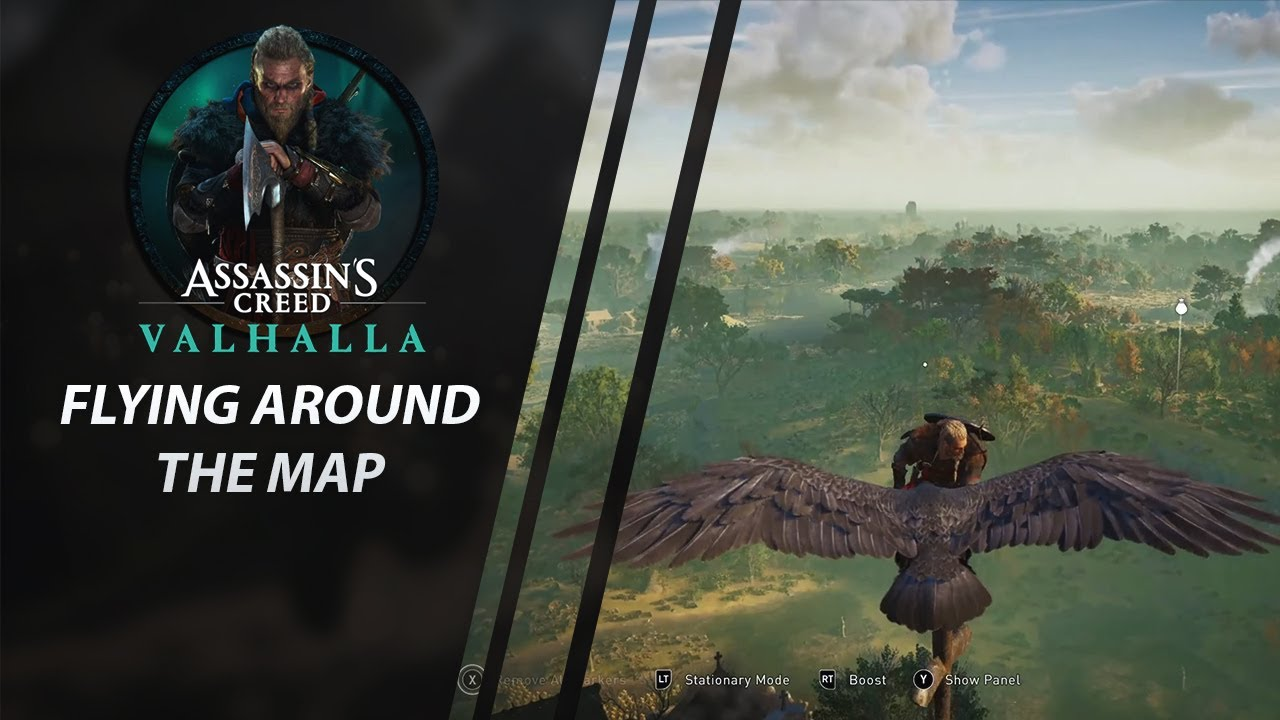 Flying Around The Map Assassin S Creed Valhalla Exclusive Gameplay Youtube