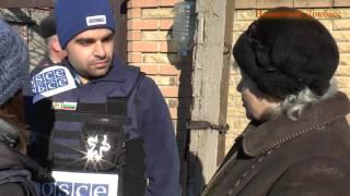 Миссия ОБСЕ на месте обстрела Трудовских / OSCE Mission on-site fire in the village Trudovskoy