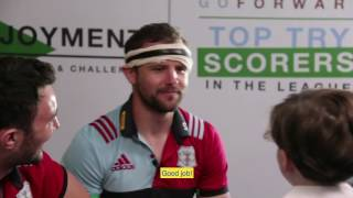 Harlequins players tackle the BIG questions in Aviva's mini interview!