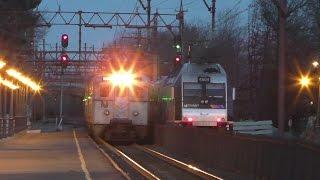 NJ Transit HD 60fps: 4 Hours of Evening Rush Hour Action on Morristown Line @ Millburn (1/13/17)
