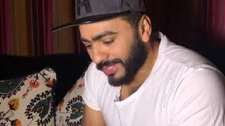 رد تامر حسني على اسئلة معجبيه حول اغاني ألبومه (عمري إبتدا)شوفو بيقول اييه تيموو