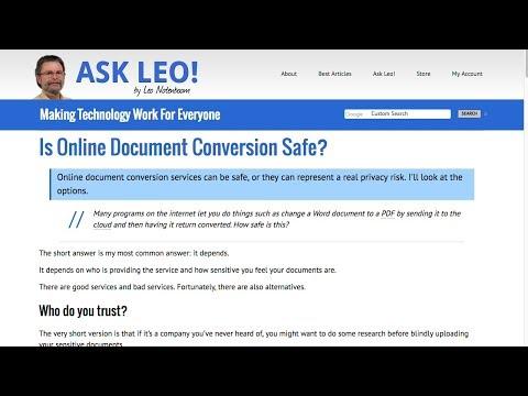 Is Online Document Conversion Safe?