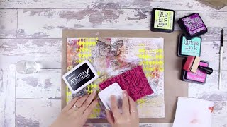 Distress Ink Mixed Media Canvas Tutorial