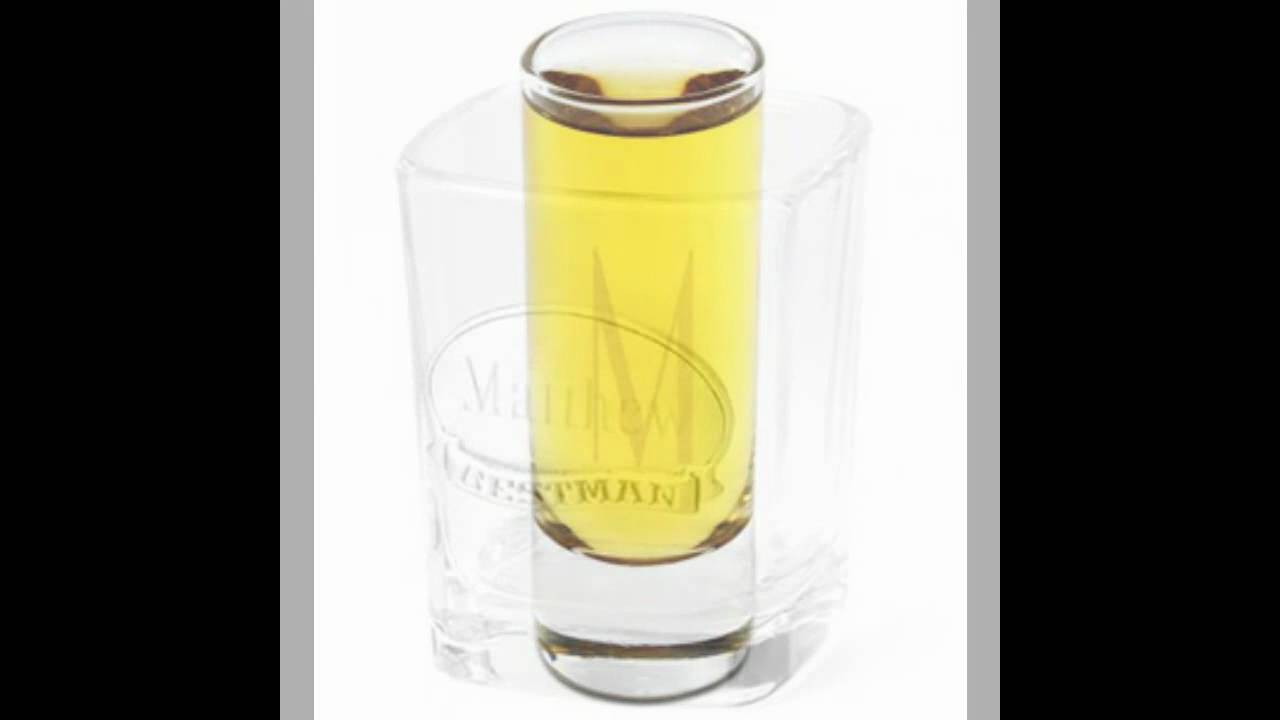 Personalized Engraved Shot Glasses for Wedding Favors - YouTube