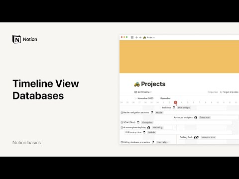 Timeline View Databases