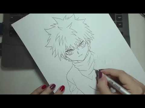 Speed Drawing Como Desenhar Killua Do Hunter X Hunter Youtube