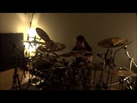 "Nick ""Yngve"" Samios recording drums for Synteleia"