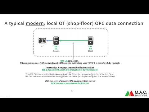OPC-DA, OPC-UA, DCOM issues & network security : Kepware OPC Server