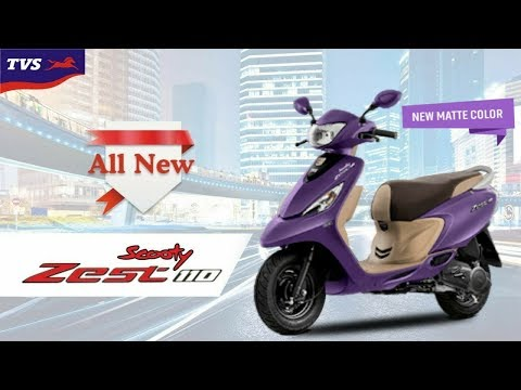 Tvs scooty zest 110 all new matte purple colour launched in india