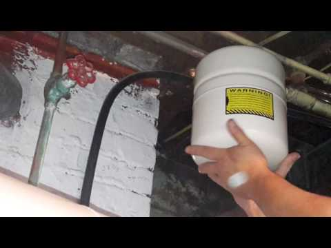 Absolute easiest way water expansion tank replacement