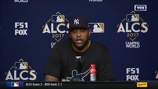 CC Sabathia on the Yankees win in ALCS Game 3