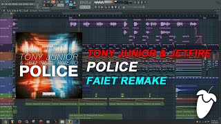 Tony Junior & JETFIRE Feat. Rivero - Police (Original Mix) (FL Studio Remake + FLP)