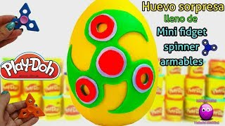 Huevo gigante spinner lleno de mini fidget spinner armables Video