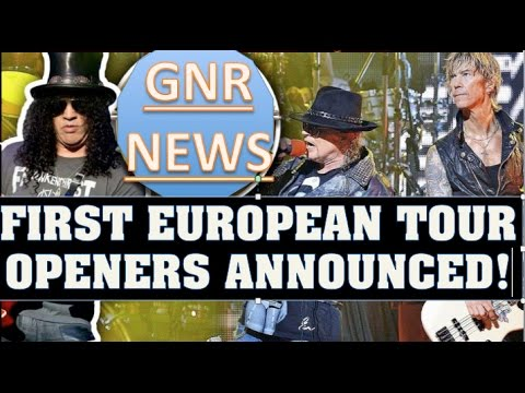 Guns N' Roses News: First European Tour Openers Announced & Mike Monroe To Join GNR In Finland?