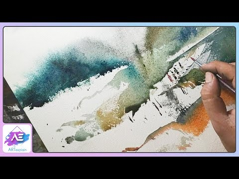Easy way to paint a watercolor landscape | How to paint a watercolor landscape | Art Explain